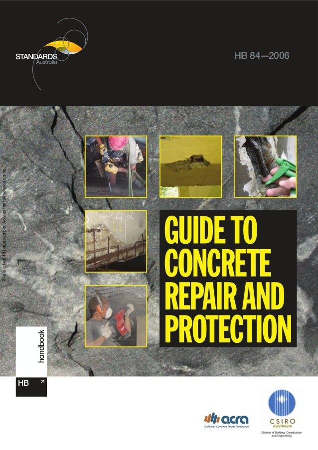 Hb 84 2006 guide to concrete repair and protection
