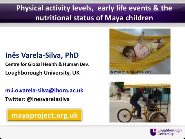 Physical activity, early life events and the nutritional status of Maya children