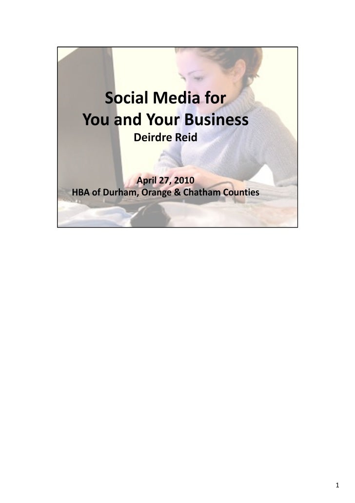 Social Media for You and Your Business with notes