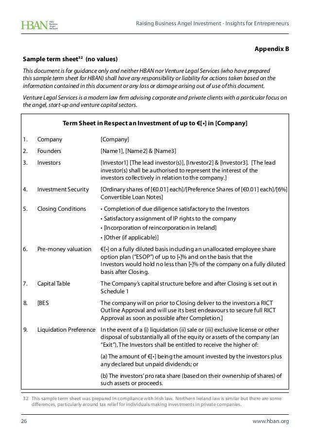 angel investor term sheet - People.davidjoel.co