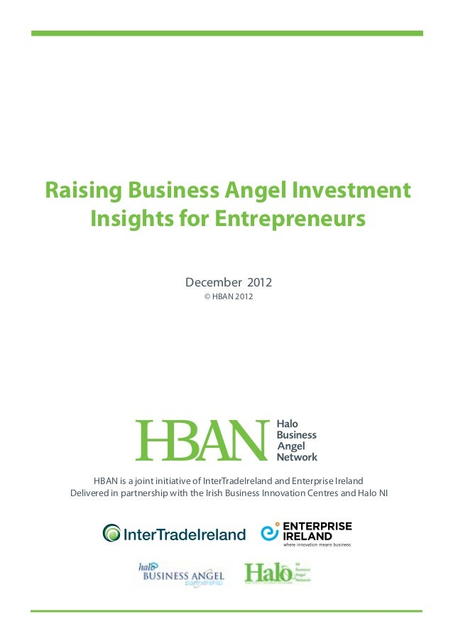 HBAN - Raising Business Angel Investment Insights for Entrepreneurs