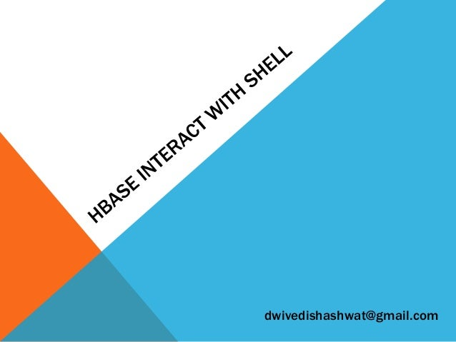 Hbase interact with shell