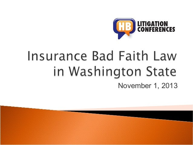 Bad Faith Nov2013 covenant judgments