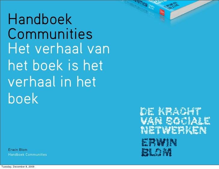 Het verhaal van het Handboek Communities