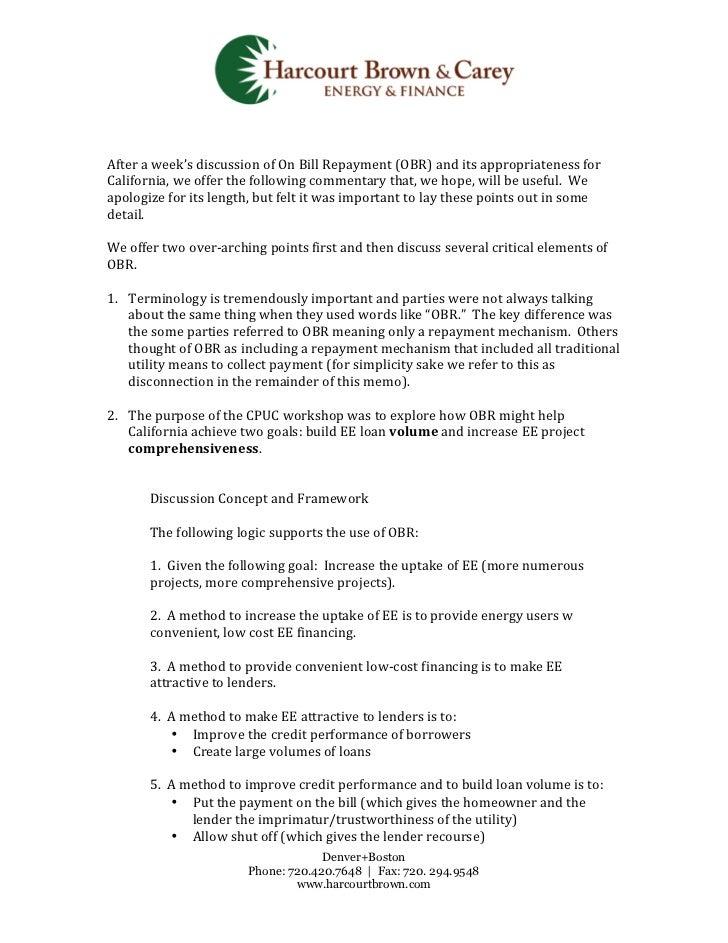 HB&C Workshop Summary