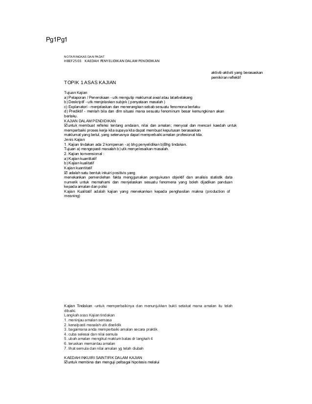Pg1Pg1 NOTA RINGKAS DAN PADAT HBEF2503 KAEDAH PENYELIDIKAN DALAM PENDIDIKAN aktiviti-aktiviti yang berasaskan pemikiran re...
