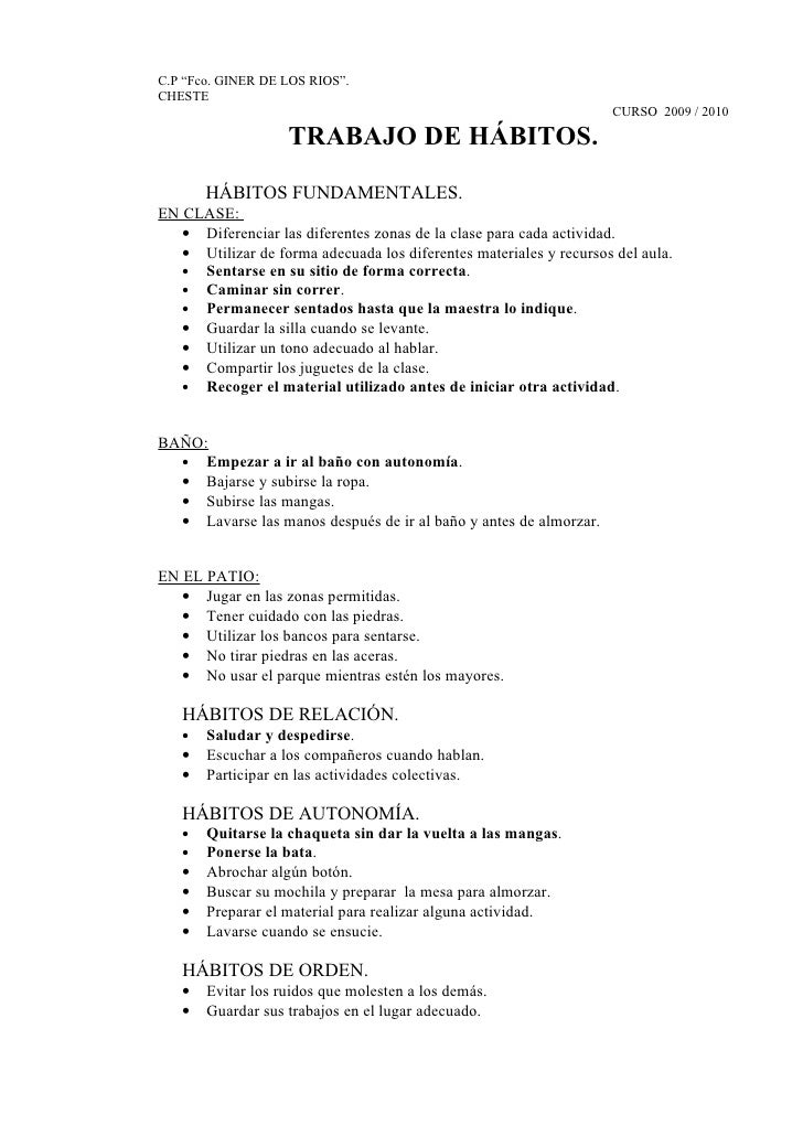 Hábitos Primer Trimestre.