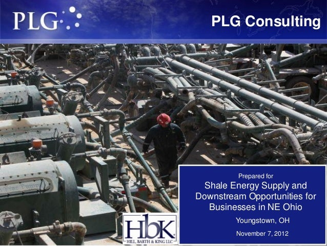 PLG Consulting         Prepared for Shale Energy Supply andDownstream Opportunities for  Businesses in NE Ohio         You...