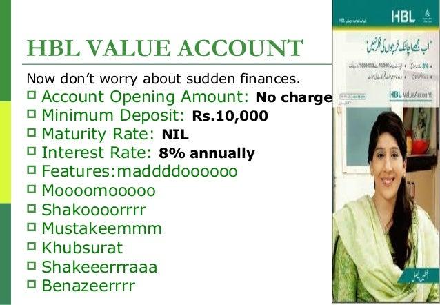 hbl open account