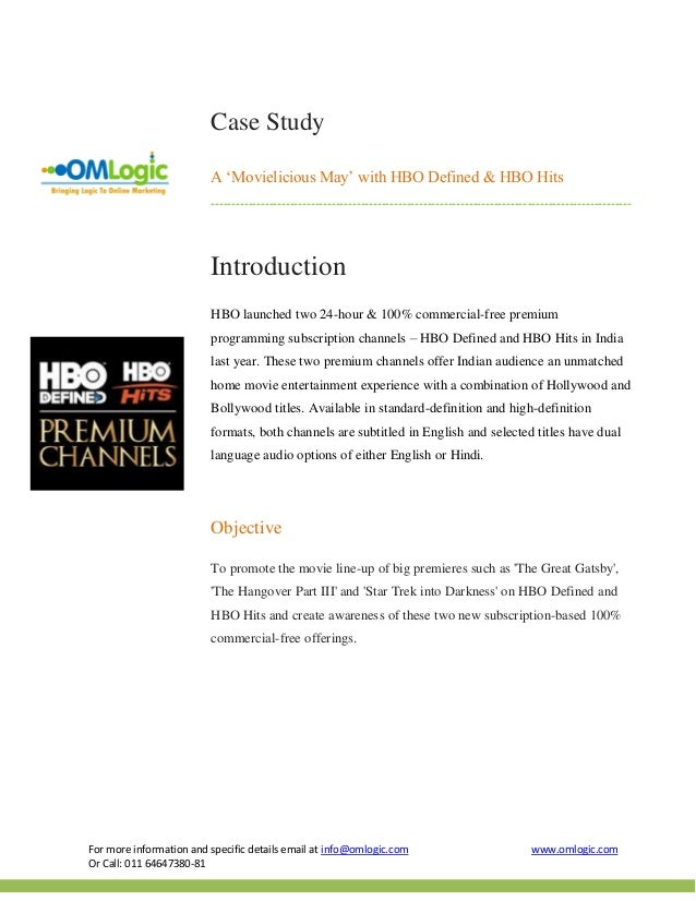 Hbo premium   movielicious may case study