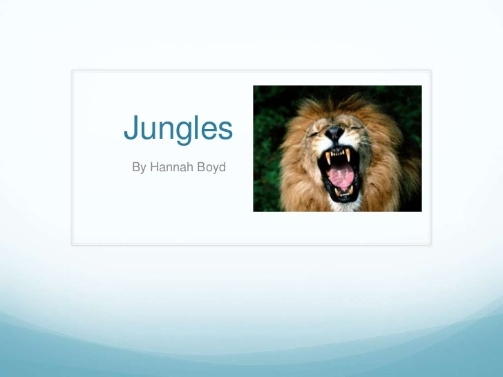Jungles Powerpoint