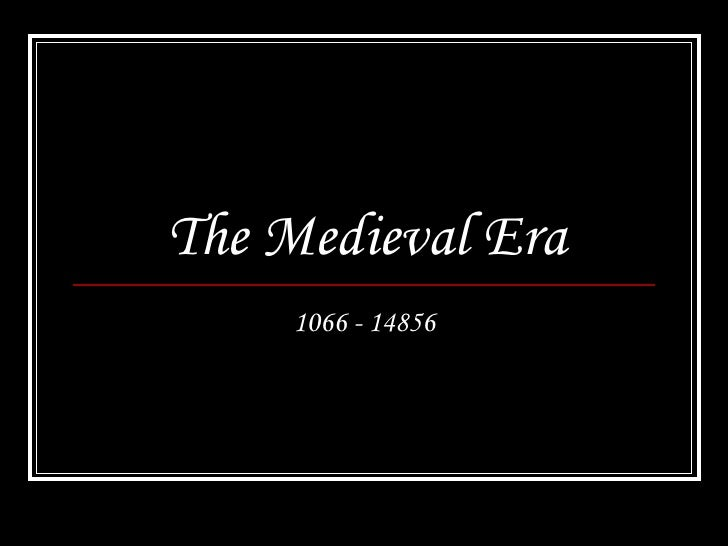 DeWitte's Middle Ages Powerpoint