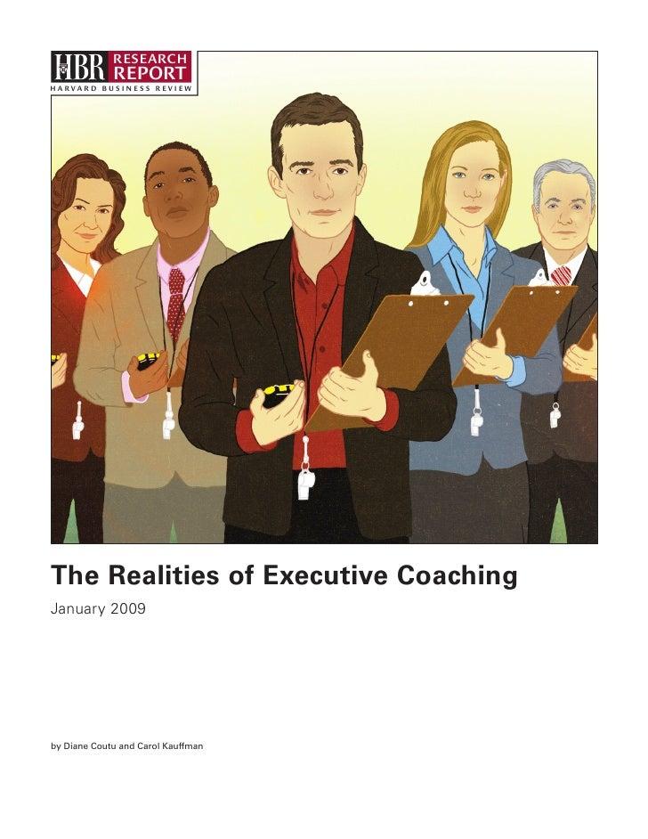 HBR Study Of Executive Coaching