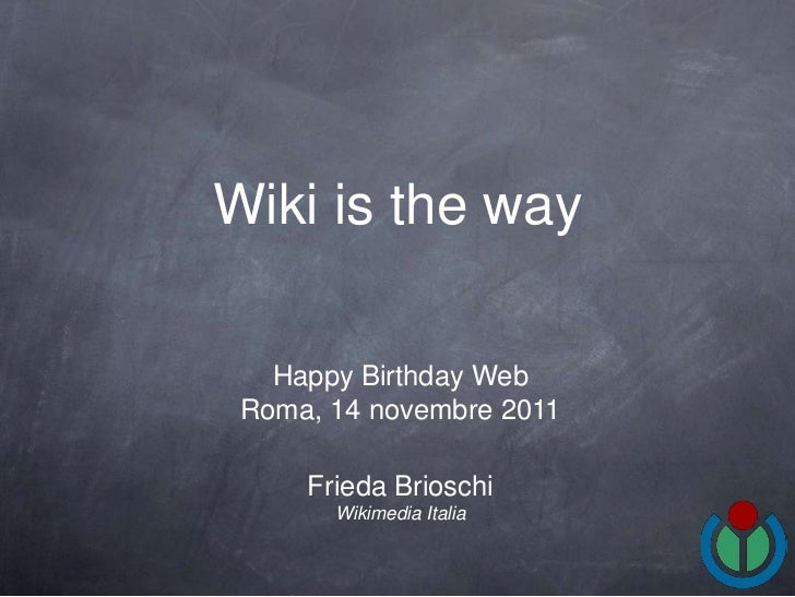 Wiki is the way