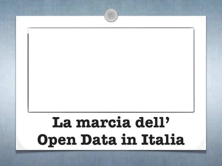 La marcia dell'Open Data in Italia
