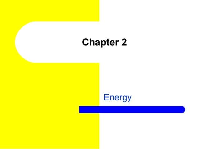 Chapter 2  Energy