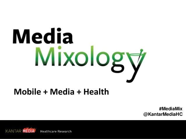 Mobile + Media + Health #MediaMix @KantarMediaHC