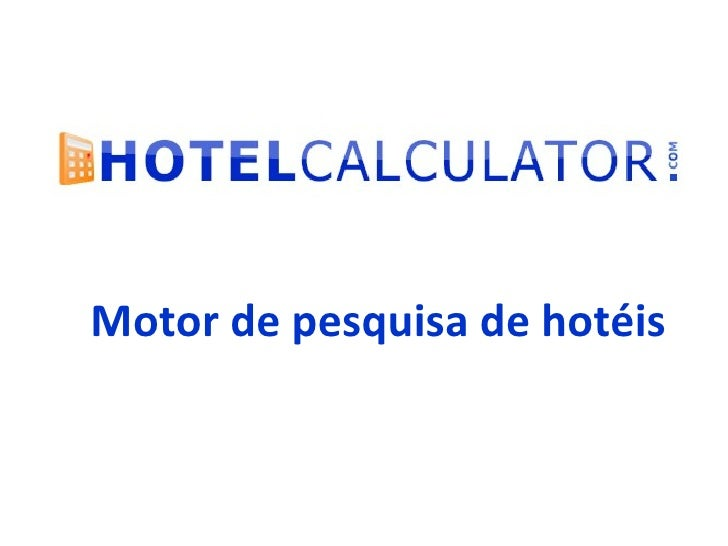 Motor de pesquisa de hotéis