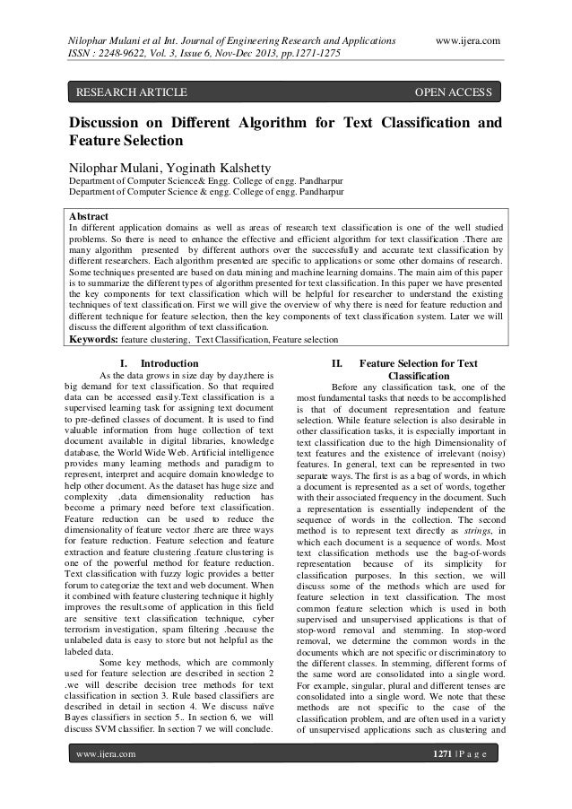Nilophar Mulani et al Int. Journal of Engineering Research and Applications ISSN : 2248-9622, Vol. 3, Issue 6, Nov-Dec 201...