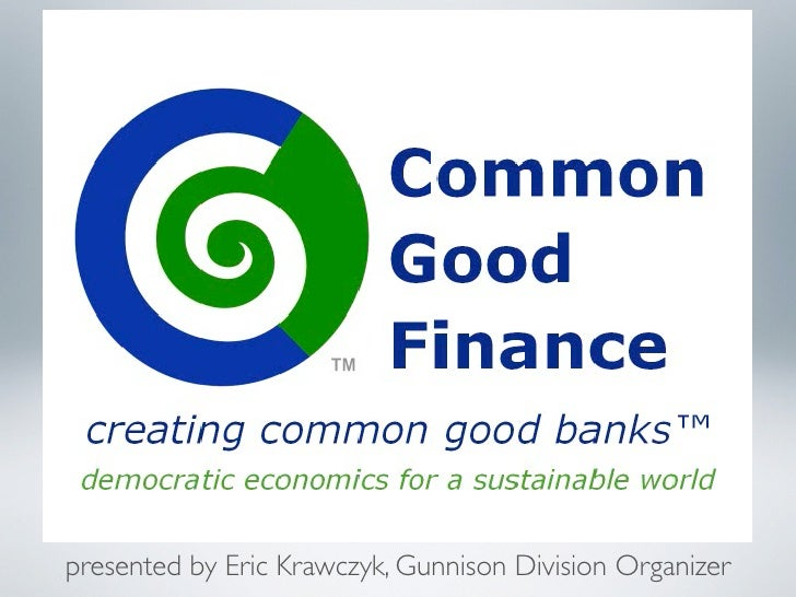Common Good Finance