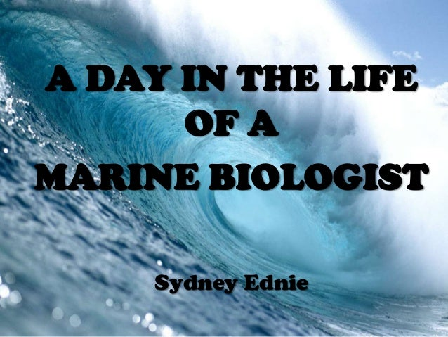 A DAY IN THE LIFEOF AMARINE BIOLOGISTSydney Ednie