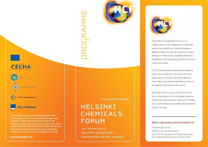 Helsinki Chemicals Forum 2012 program