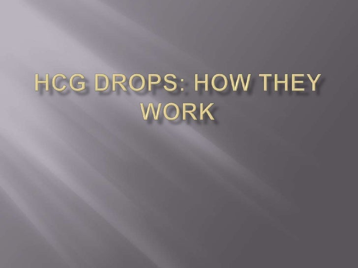 HCG Drops: How They Work