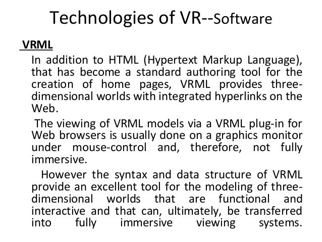 System Architecture Design Architecture of vr System