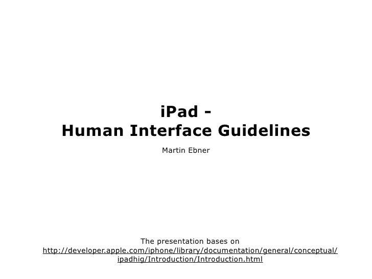 iPhone/iPad Human Interface Design