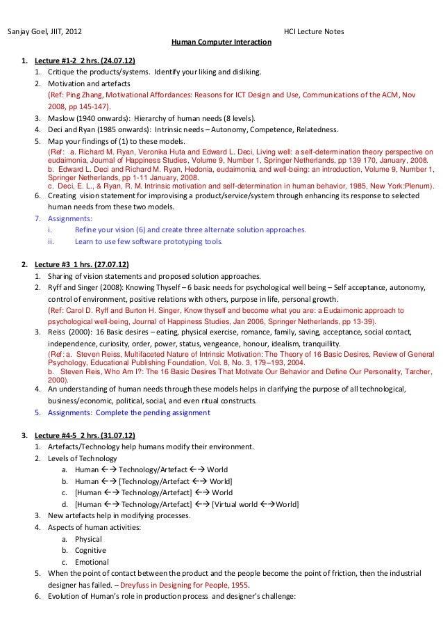 Sanjay Goel, JIIT, 2012                                                            HCI Lecture Notes                      ...