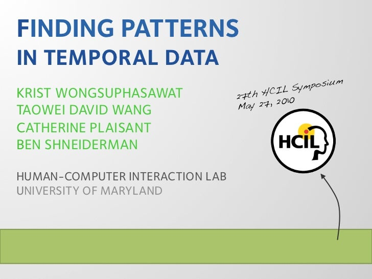 Finding Patterns in Temporal Data