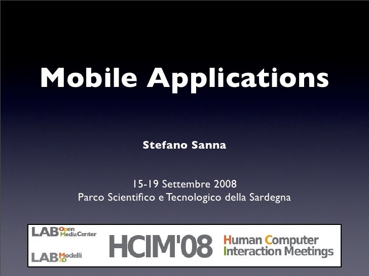 HCIM08 - Mobile Applications
