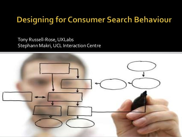 Designing for Consumer Search Behaviour