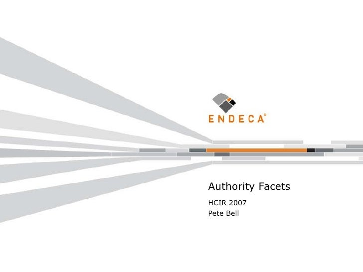 HCIR Authority Facets