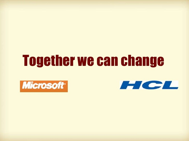 Together we can change<br />