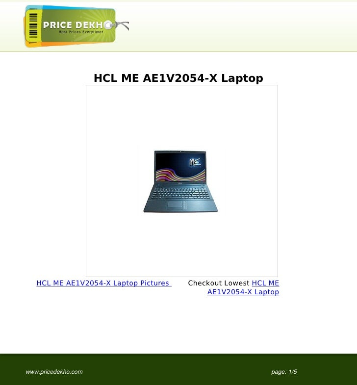 HCL+ME+AE1V2054-X+Laptop+specification