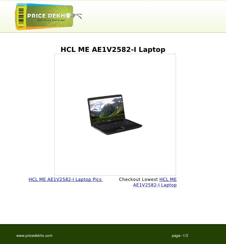HCL ME AE1V2582-I Laptop      HCL ME AE1V2582-I Laptop Pics   Checkout Lowest HCL ME                                      ...