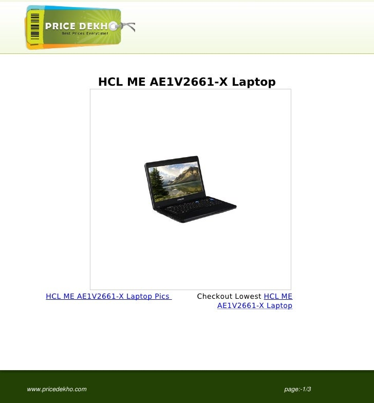 HCL ME AE1V2661-X Laptop     HCL ME AE1V2661-X Laptop Pics   Checkout Lowest HCL ME                                       ...