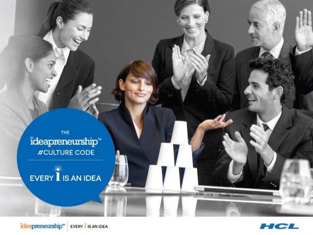 HCL Technologies #CultureCode - #Ideapreneurship