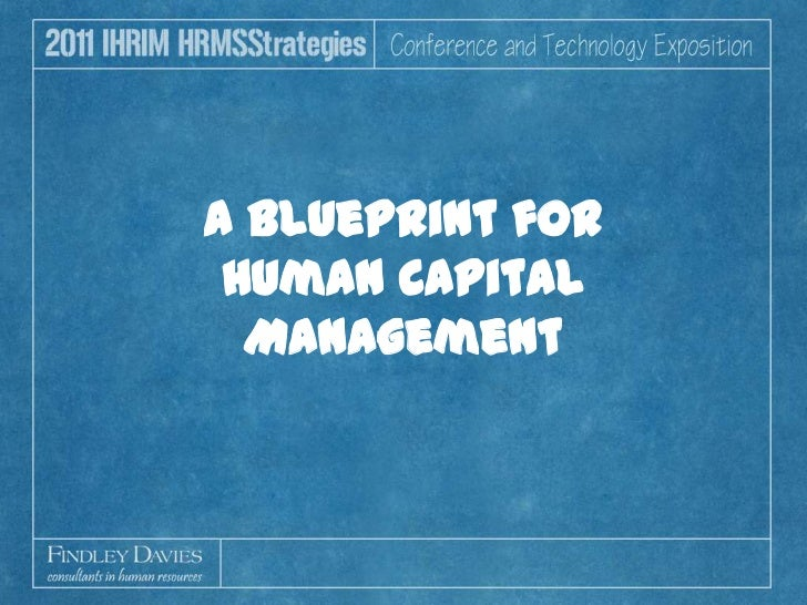 A Blueprint for Human Capital Management<br />