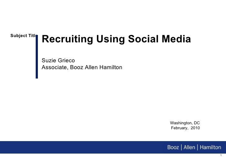Recruiting Using Social Media