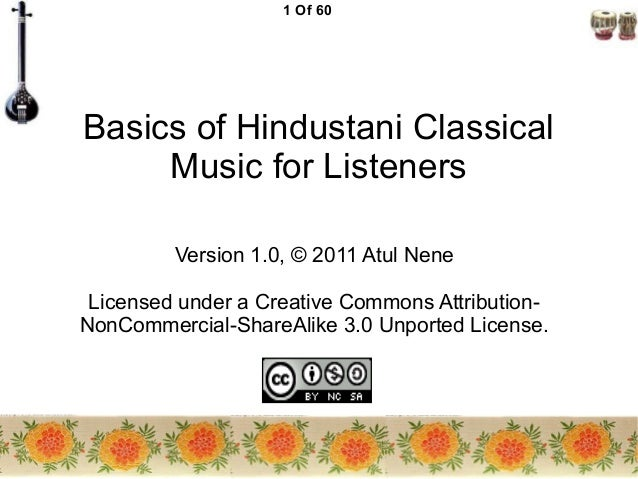 Hindustani Classical Music for Listeners