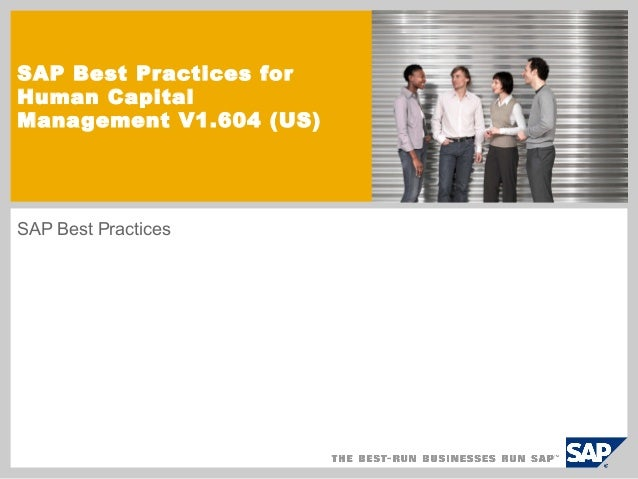 SAP Best Practices forHuman CapitalManagement V1.604 (US)SAP Best Practices