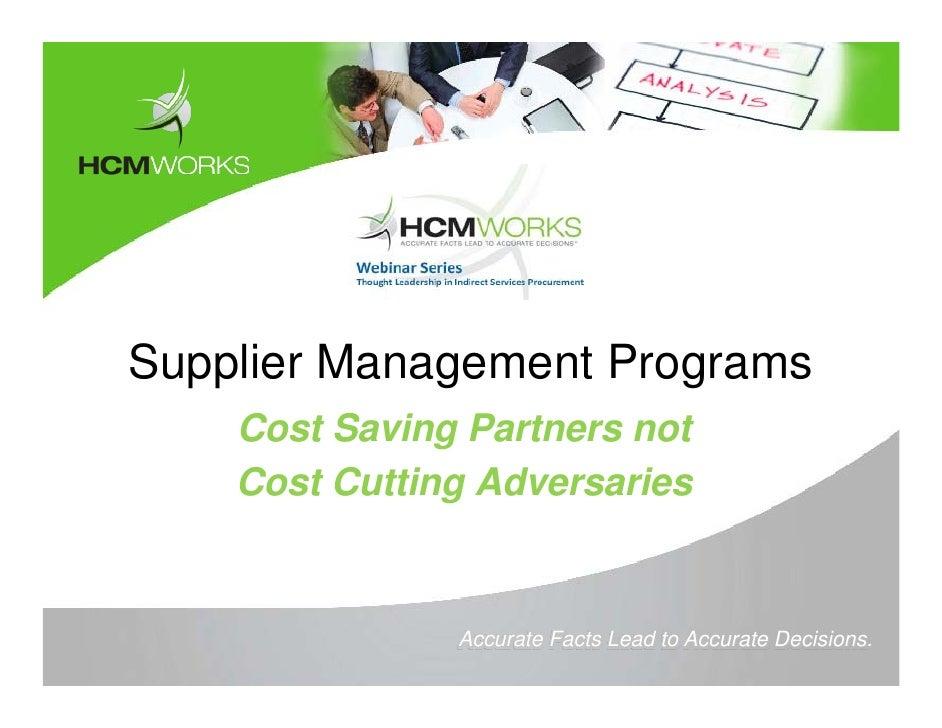 Hcm works -_supplier_management_programs_webinar_april_2010