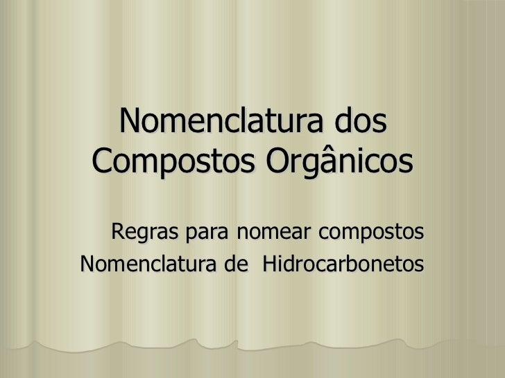 Hc nomenclatura