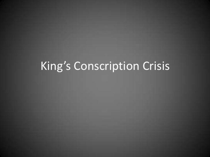 King's Conscription Crisis