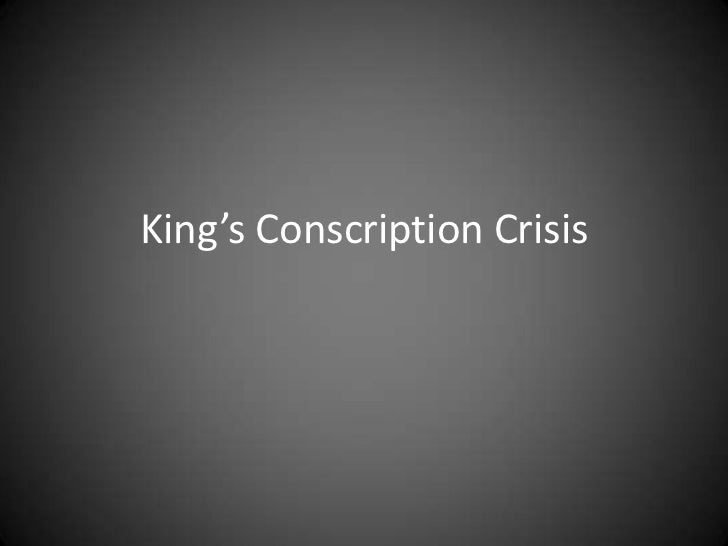 King's Conscription Crisis