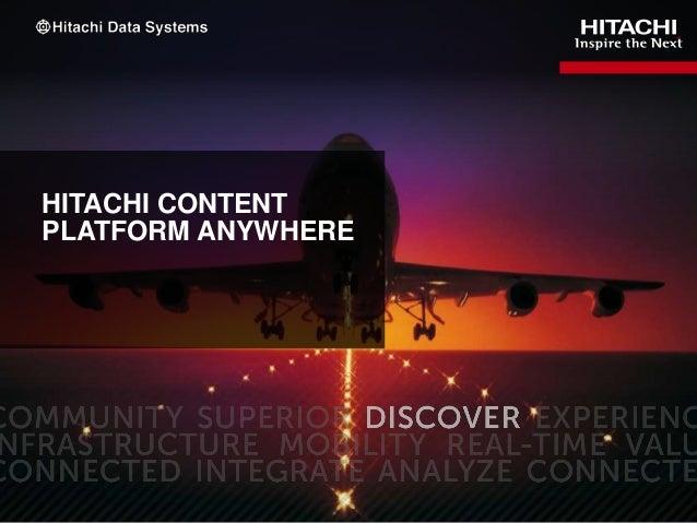 Hitachi Content Platform Narrated Slidecast