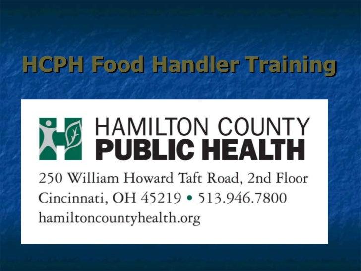 HCPH Food Handler Training