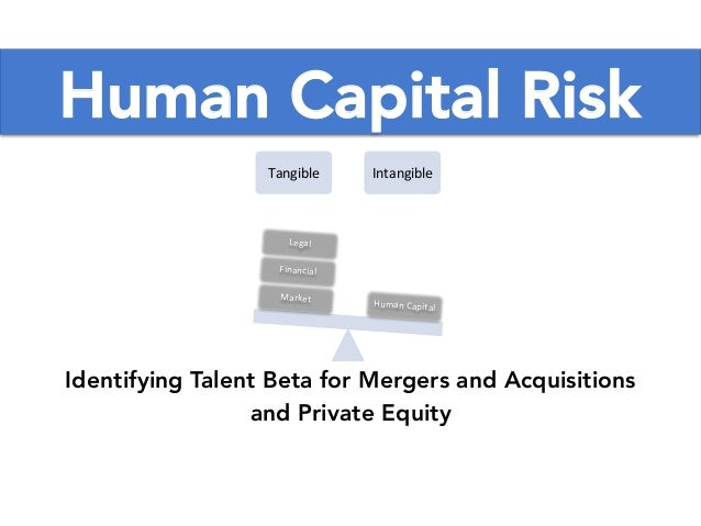 Human Capital Risk Tangible) Intangible) Human)Capital) Market) Financial) Legal) Identifying Talent Beta for Mergers and ...